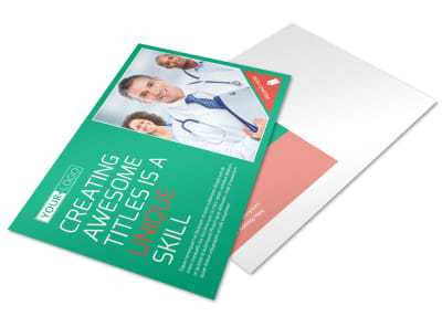 Medical Service Center Postcard Template preview
