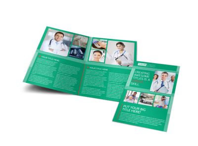 Medical Service Center Bi-Fold Brochure Template
