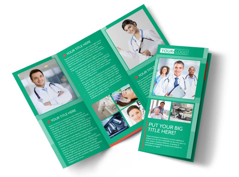 Medical Clinic Center Tri-Fold Brochure Template - Word ... |Medical Tri Fold Brochure Template