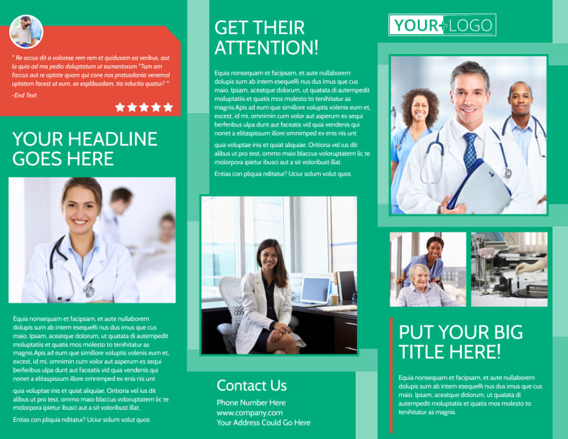 Medical Service Center Brochure Template Preview 2