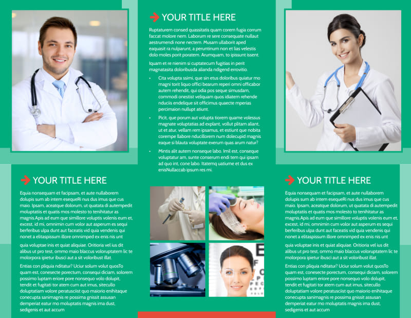 Medical Service Center Brochure Template Preview 3