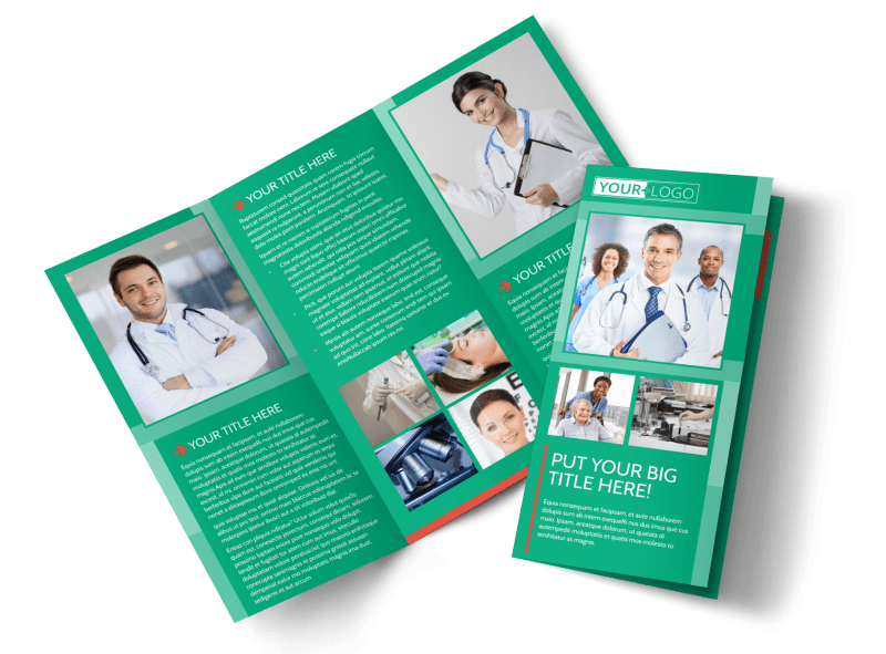 Medical Service Center Brochure Template Preview 1
