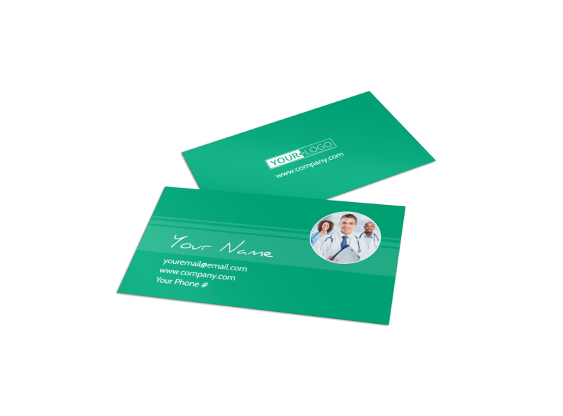 Medical Service Center Business Card Template Preview 1