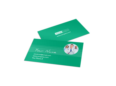 Medical Service Center Business Card Template preview