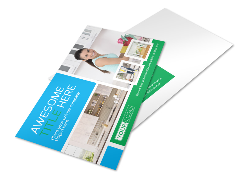 Top House Cleaning Service Postcard Template 2