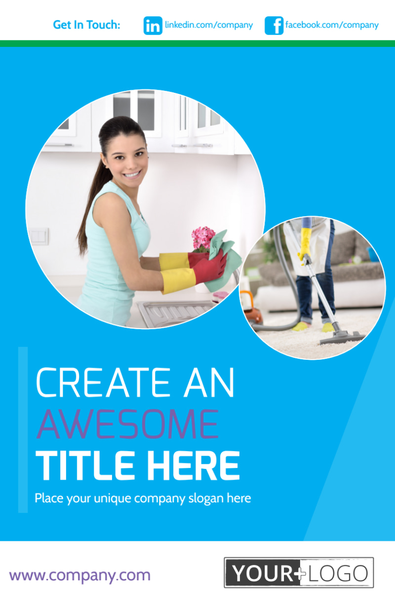 Top House Cleaning Service Flyer Template Preview 2