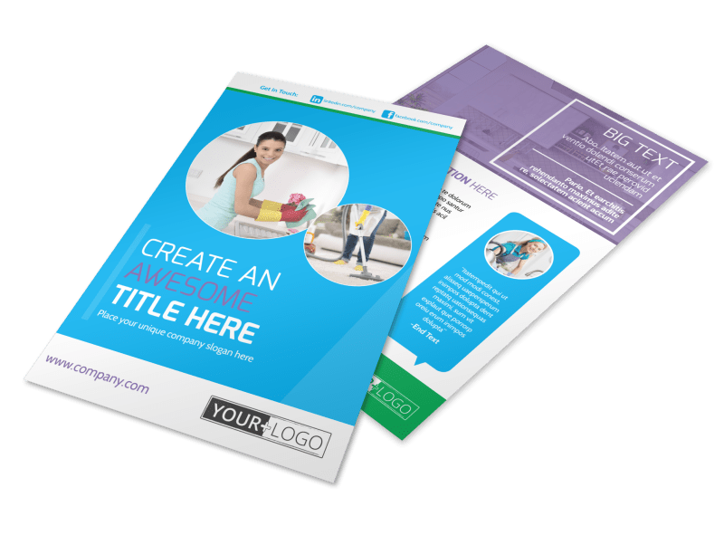Top House Cleaning Service Flyer Template Preview 1