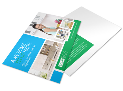 Top House Cleaning Service Postcard Template