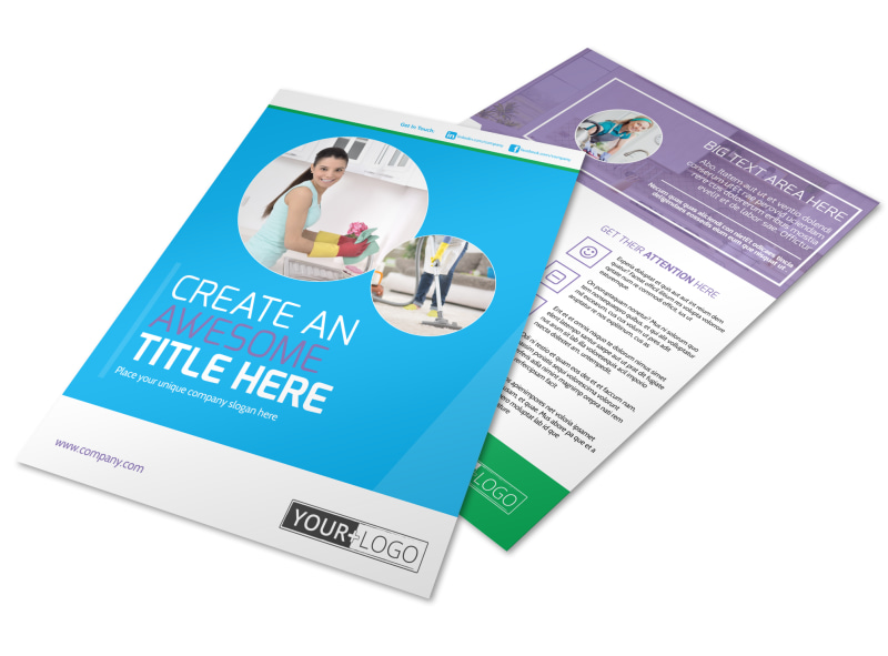 Top House Cleaning Service Flyer Template  Mycreativeshop