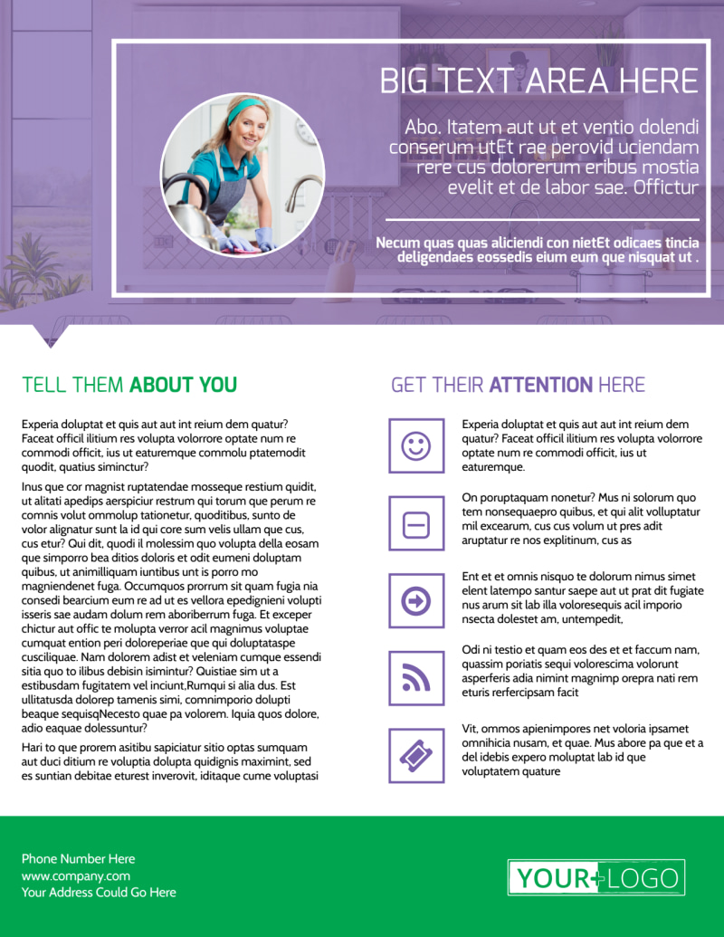 Top House Cleaning Service Flyer Template Preview 3