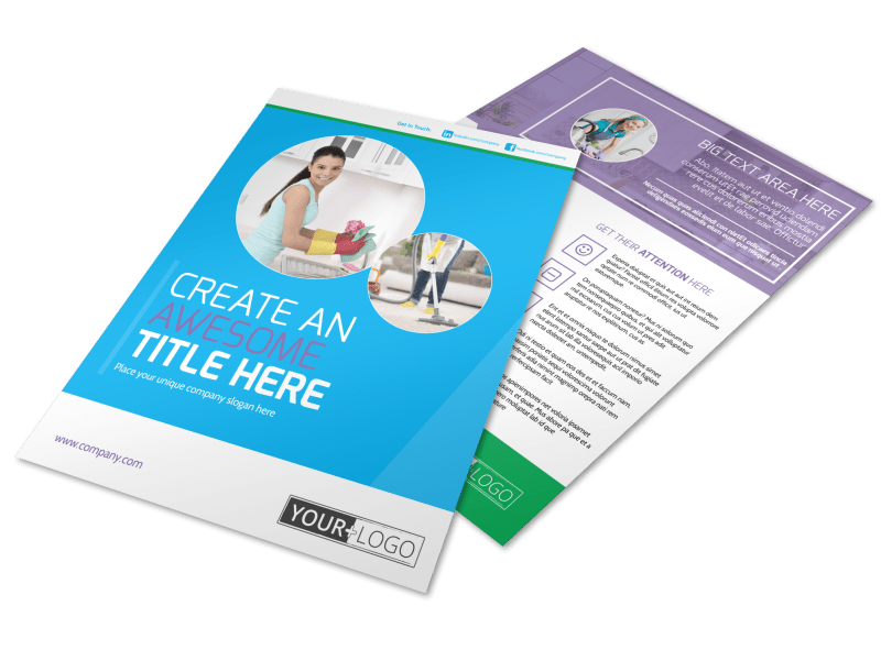 Top House Cleaning Service Flyer Template