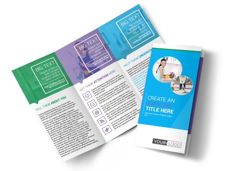Top House Cleaning Service Brochure Template MyCreativeShop - 1 page brochure template