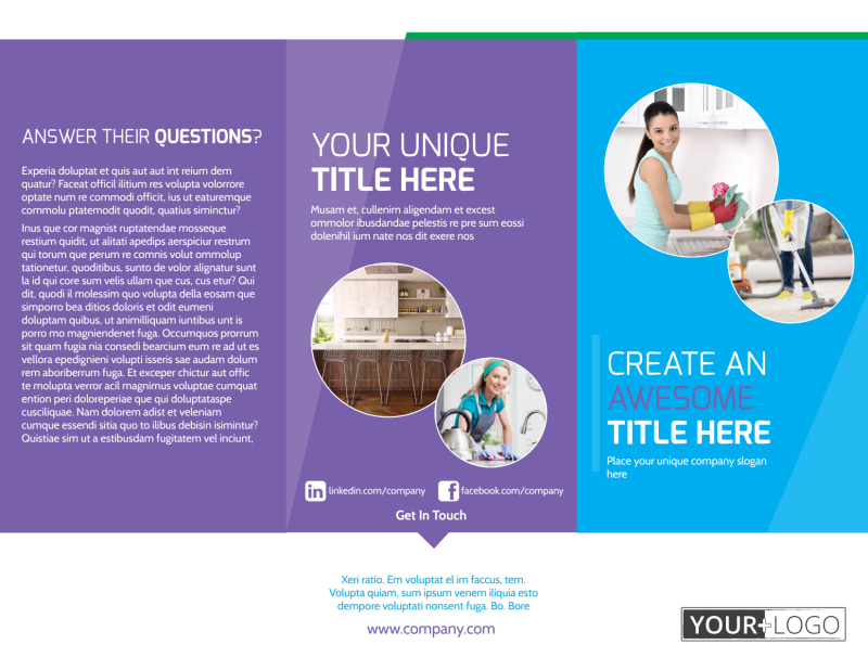 Top House Cleaning Service Brochure Template Preview 2