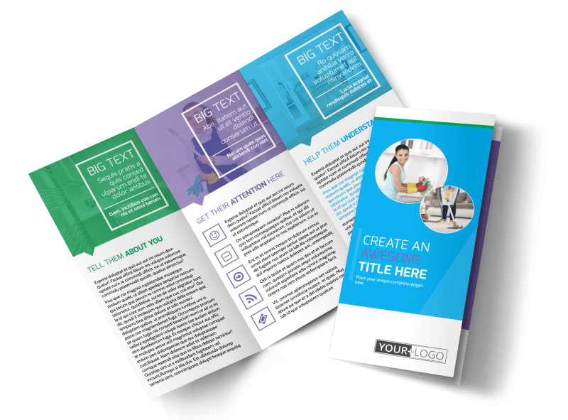 Top House Cleaning Service Brochure Template Preview 1