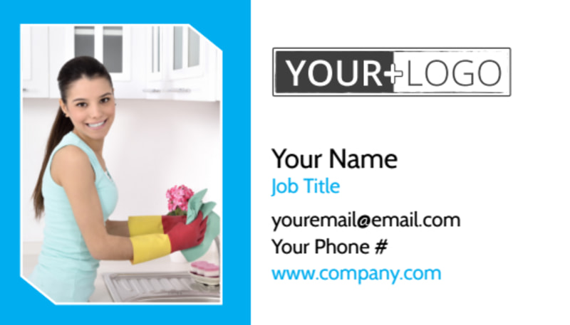 Top House Cleaning Service Business Card Template Preview 2