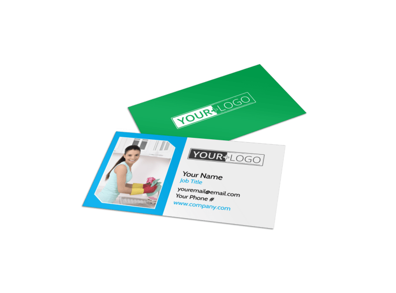 Top House Cleaning Service Business Card Template Preview 1