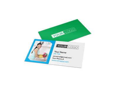 Top House Cleaning Service Business Card Template preview