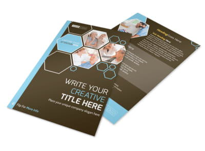 Reliable Home Healthcare Flyer Template 3