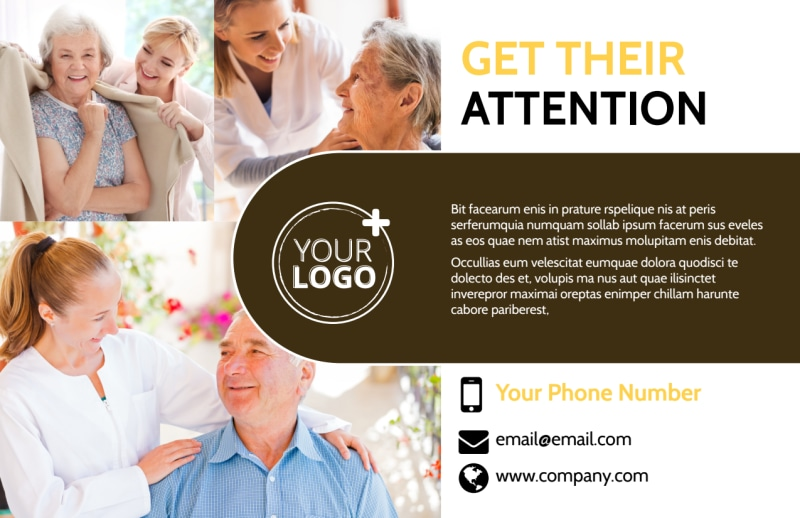 Reliable Home Healthcare Postcard Template Preview 2