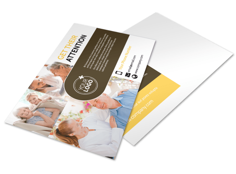 Reliable Home Healthcare Postcard Template Preview 1