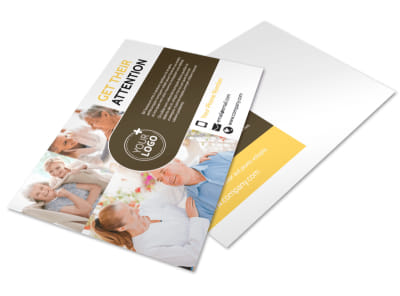 Reliable Home Healthcare Postcard Template preview