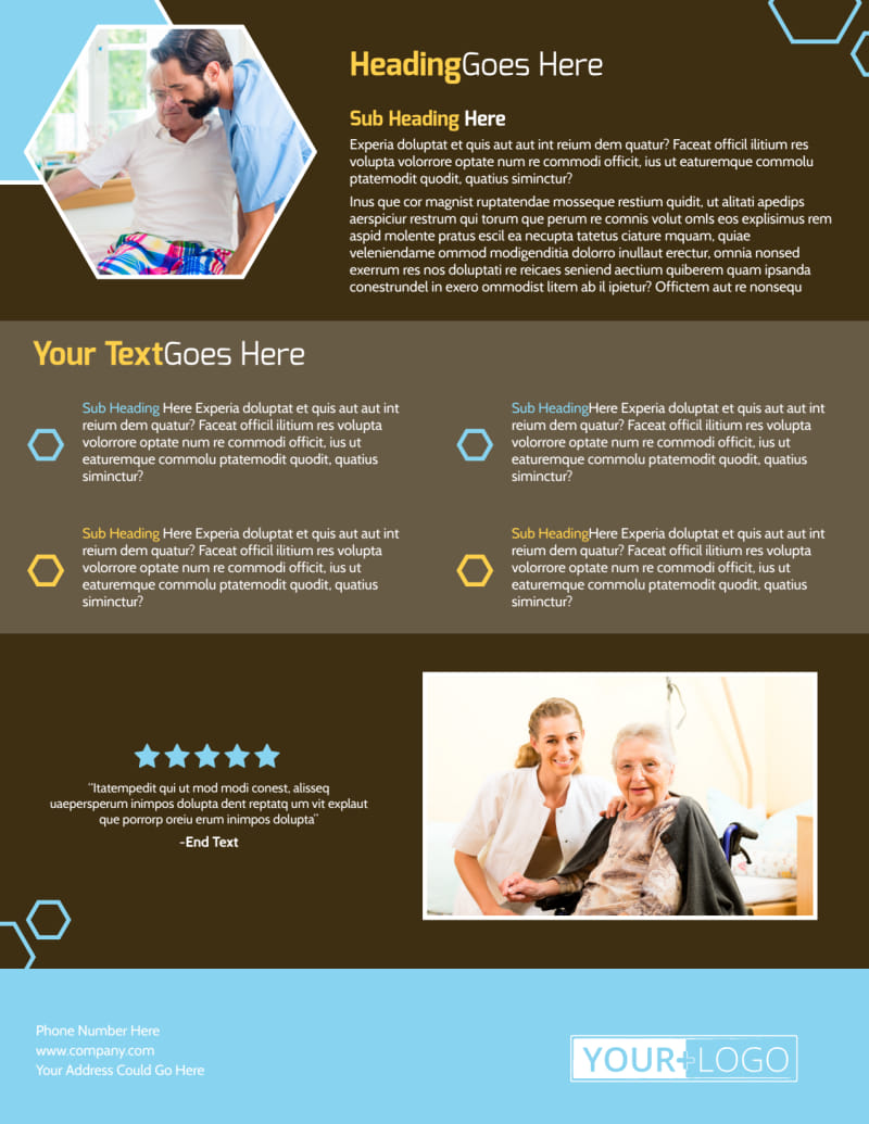 Reliable Home Healthcare Flyer Template Preview 3