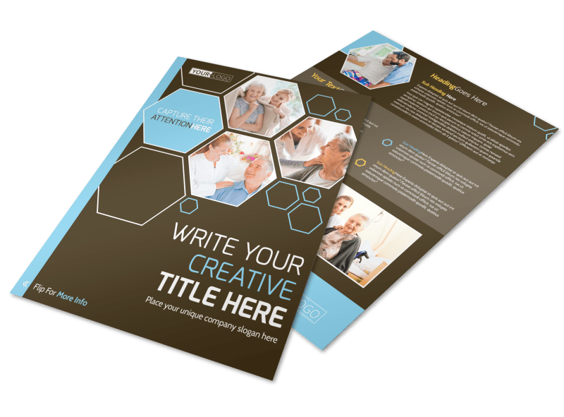 Reliable Home Healthcare Flyer Template Preview 1