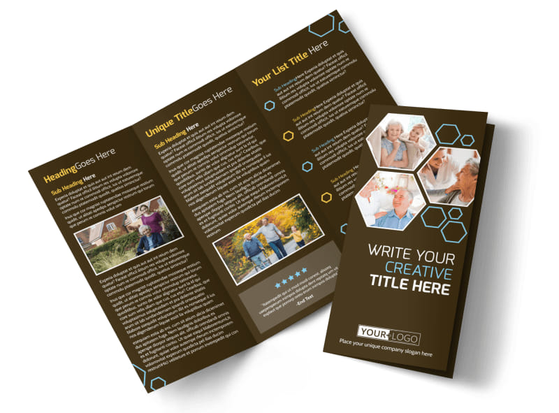 Reliable Home Healthcare Brochure Template MyCreativeShop - Home care brochure template