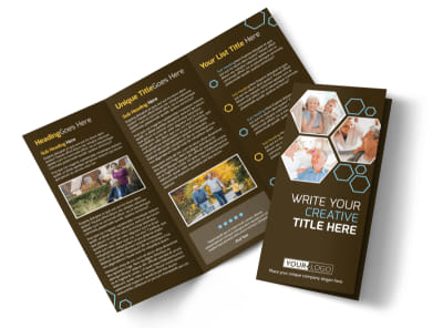 Reliable Home Healthcare Tri-Fold Brochure Template