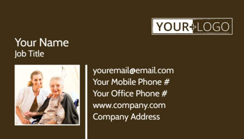 Reliable Home Healthcare Business Card Template Preview 2