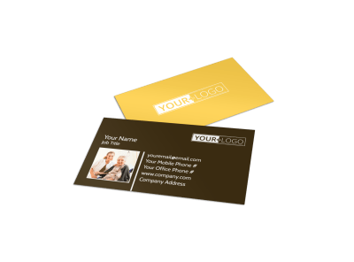 Assisted Living Business Cards Template Preview