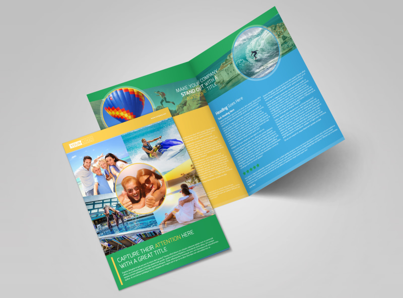 Awesome Tourism Activities Bi-Fold Brochure Template 2