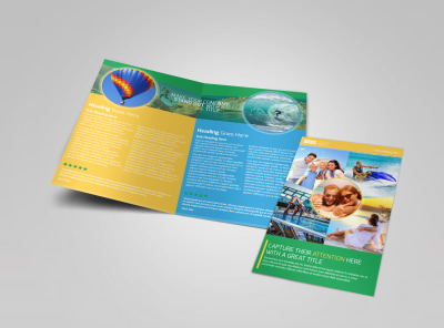 Awesome Tourism Activities Bi-Fold Brochure Template