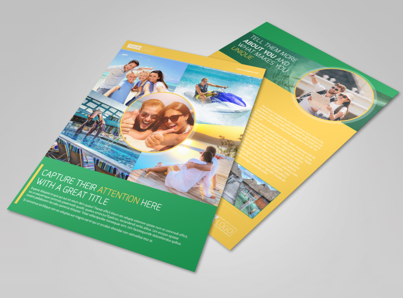 Awesome Tourism Activities Flyer Template MyCreativeShop - Tourism flyer template