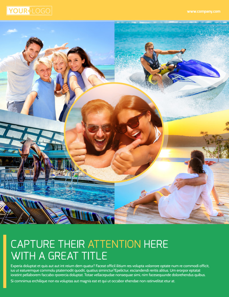 Awesome Tourism Activities Flyer Template Preview 2