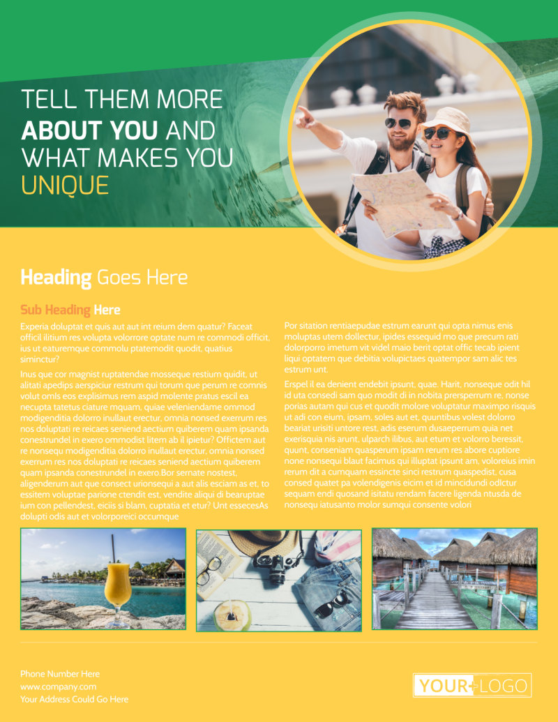 Awesome Tourism Activities Flyer Template Preview 3