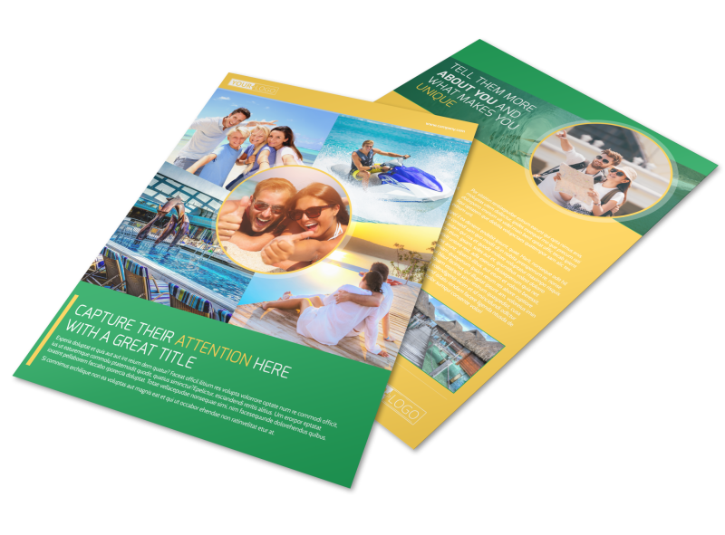 Awesome Tourism Activities Flyer Template Preview 1