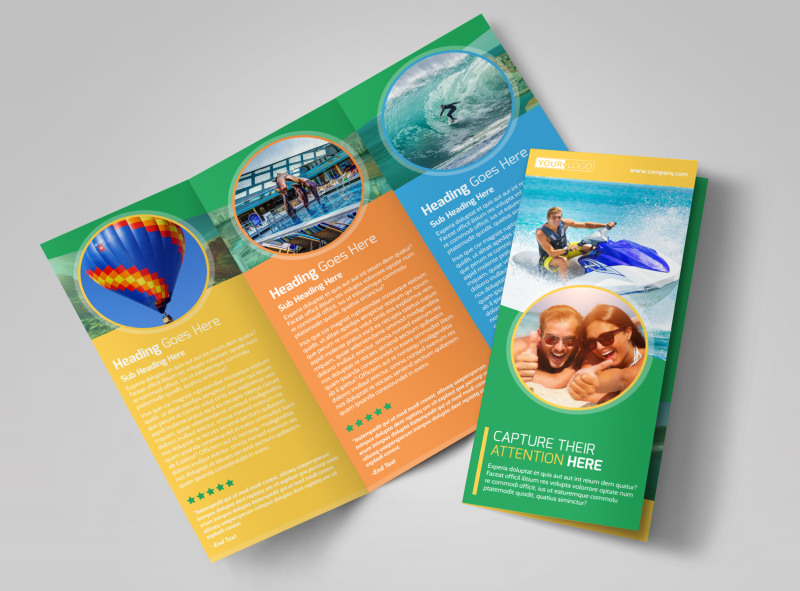 Awesome tourism activities brochure template mycreativeshop for Awesome tri fold brochure design