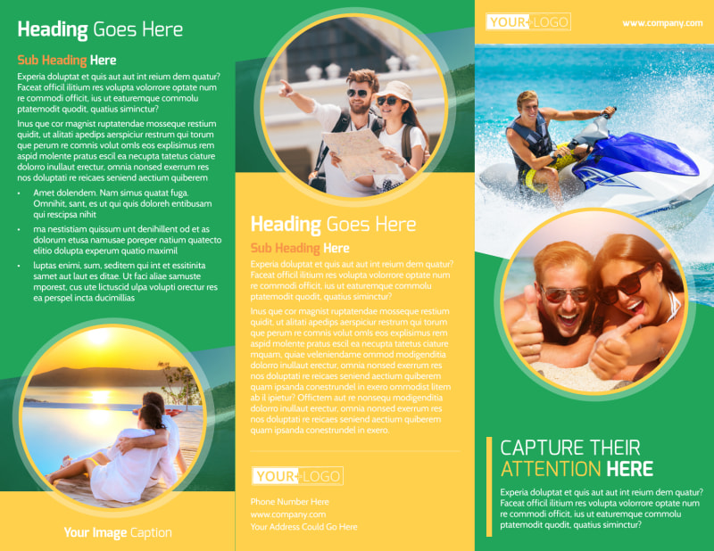 awesome tourism activities brochure template