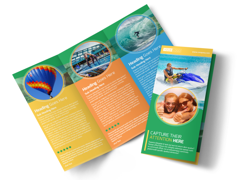 Awesome Tourism Activities Brochure Template Preview 1