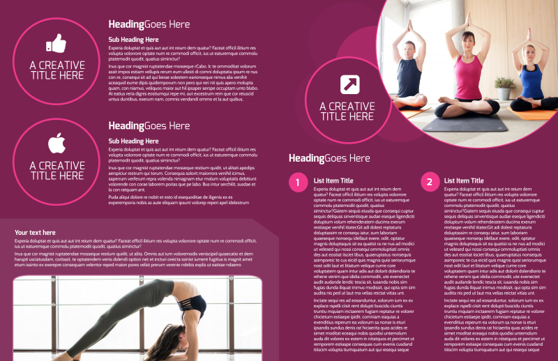 Core Yoga Fitness Brochure Template Preview 3