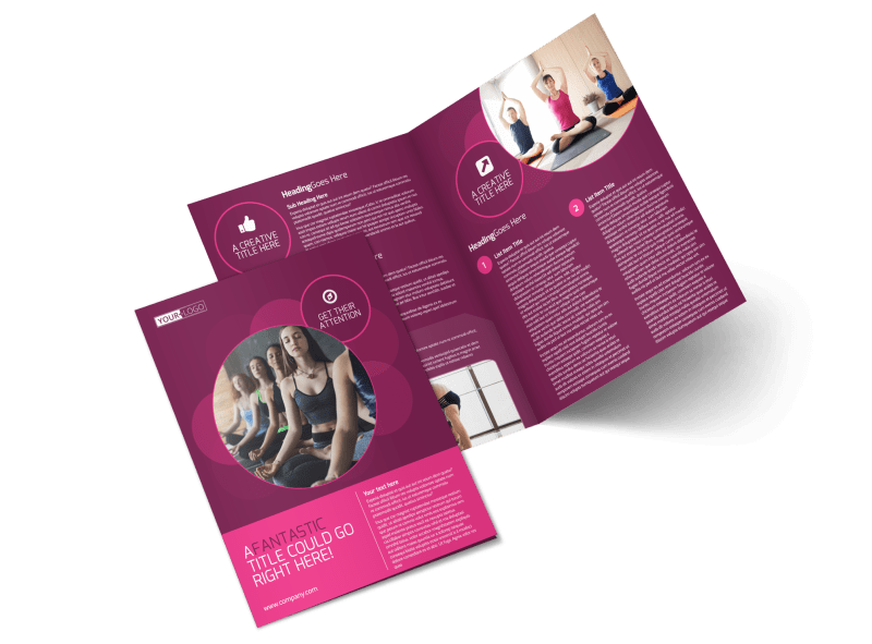 Core Yoga Fitness Brochure Template Preview 1
