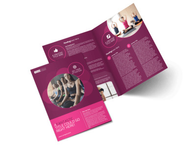Core Yoga Fitness Bi-Fold Brochure Template 2