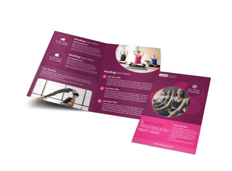 Core Yoga Fitness Bi-Fold Brochure Template