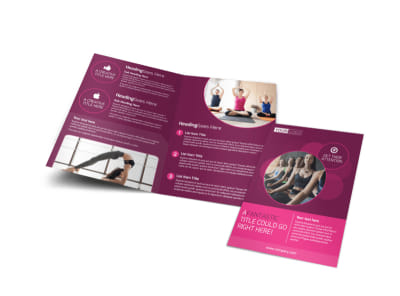 Core Yoga Fitness Bi-Fold Brochure Template
