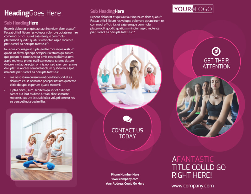 Core Yoga Fitness Brochure Template Preview 2