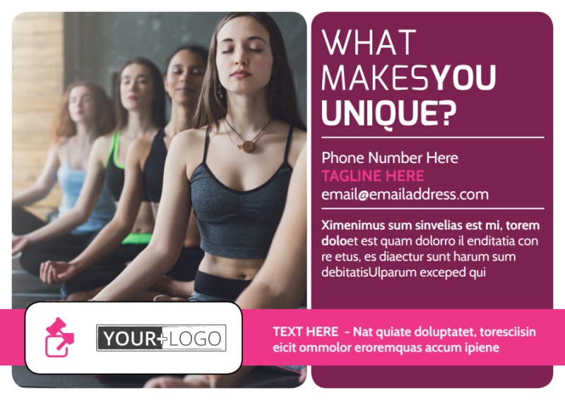 Core Yoga Fitness Postcard Template Preview 2