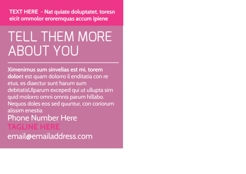Core Yoga Fitness Postcard Template Preview 3