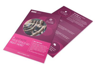 Core Yoga Fitness Flyer Template 3
