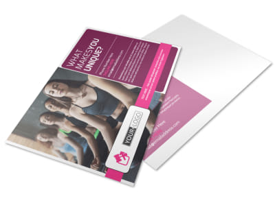 Core Yoga Fitness Postcard Template preview